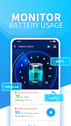 Battery Saver-Ram Cleaner, Booster, Monitoring  screenshots 1