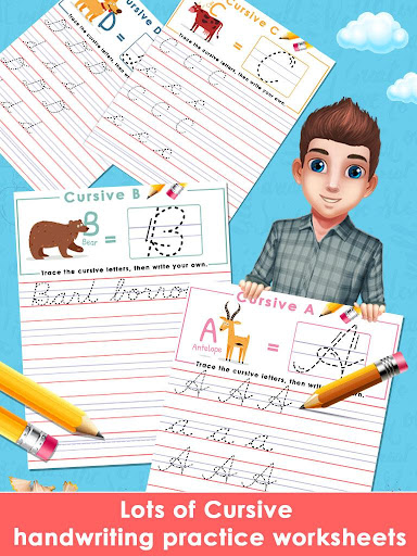 Kids Learn Cursive Writing - Cursive For Toddlers apkpoly screenshots 14