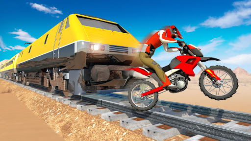 Bike vs. Train u2013 Top Speed Train Race Challenge modavailable screenshots 4