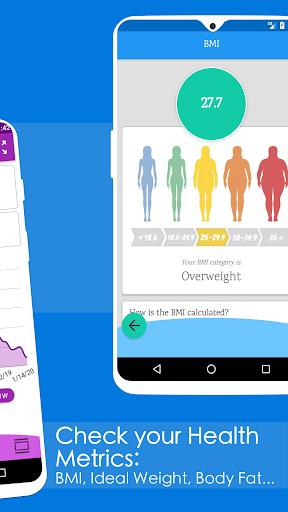 Weight Diary - Weight Loss Tracker, BMI, Body Fat 3.6.0.1 Screenshots 3