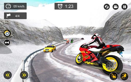 Snow Mountain Bike Racing 2021 - Motocross Race android2mod screenshots 8