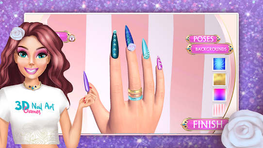 3D Nail Art Games for Girls 4