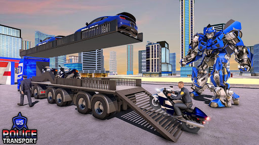 US Police Robot Transform - Police Plane Transport  screenshots 11