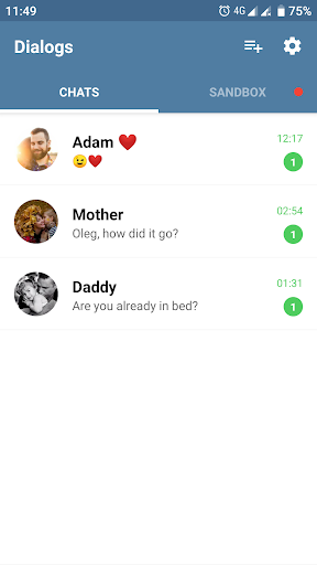 Fake Chat Messenger — TeleFake 2.1.0 screenshots 1