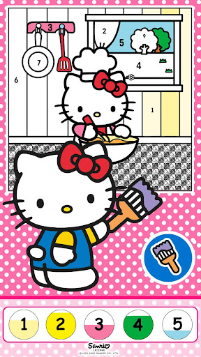 Hello Kitty Coloring Book 1.1.0 screenshots 7