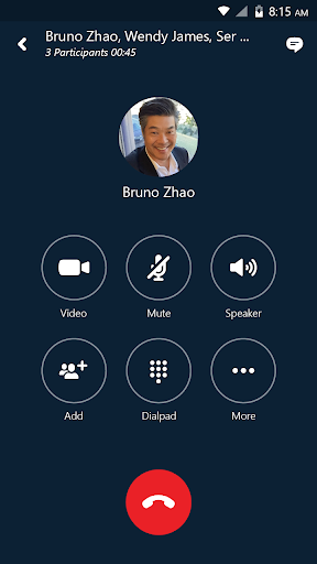 Skype for Business for Android  screenshots 1