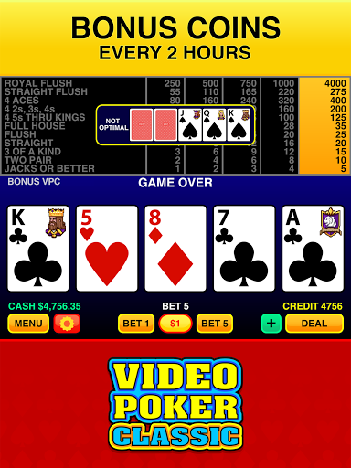 Video Poker Classic u2122 3.8 screenshots 12