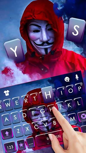 Smoke Anonymous Keyboard Background screenshot 2