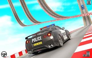 Police Mega Ramp - Car Stunts Games