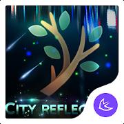 City Night Reflection-APUS Launcher theme