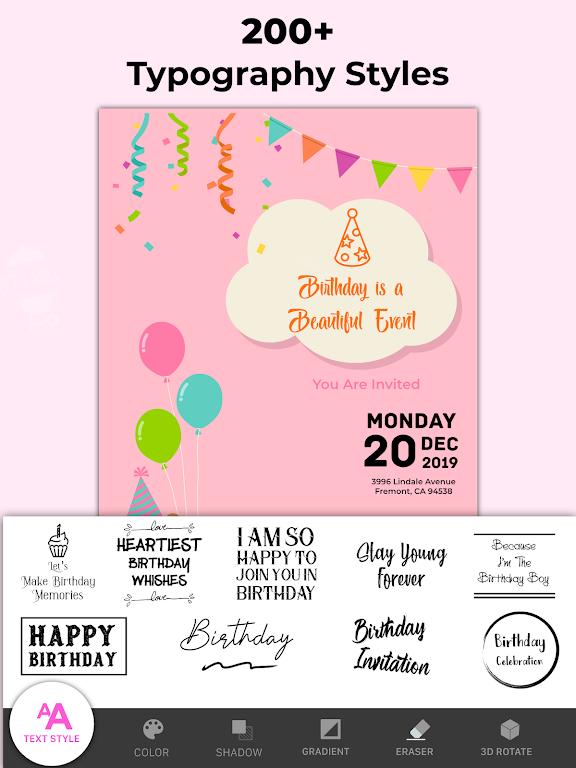 Invitation Maker Free - Birthday & Wedding Card  poster 13