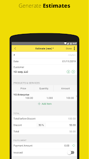 1C: Invoice and Estimate for Small Business