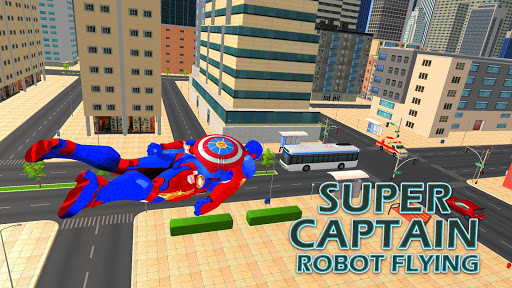 Superhero Captain Robot Games:Black Hole Rope Hero modavailable screenshots 7