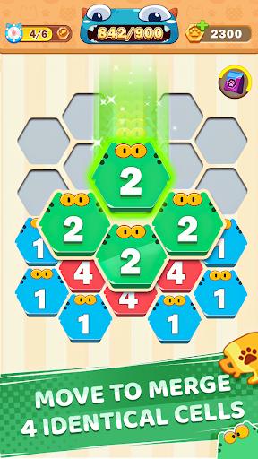 Cat Cell Connect - Merge Number Hexa Blocks 1.3.4 screenshots 2