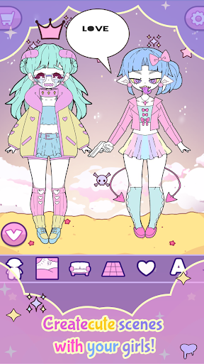 Moon's Closet: Dress up game, Goth girl creator apkdebit screenshots 3