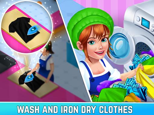 Laundry Shop Clothes Washing Game 1.23 screenshots 2