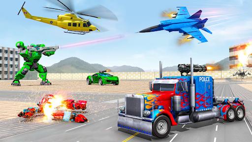 Robot Car Transformation: 3D Transformation Games screenshots 1