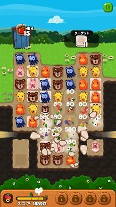 LINE ポコポコ - うさぎのポコタとクローバーやチェリーを集めろ!ダンジョンでも遊べる無料パズルのおすすめ画像3