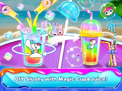 Rainbow Slushy Maker – Slushie Ice Candy Bars Screenshot