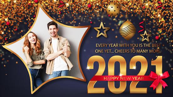 Happy New Year Photo Frame 2021 photo editor 2.2 Screenshots 14