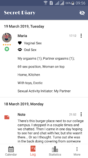 Sex Life - Sex Tracker, Diary of Sex, Sex Calendar 1.0.3 Screenshots 2