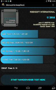 MemoryInfo & Swapfile Check Screenshot