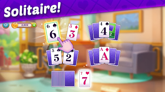 Solitaire Story - Ava's Manor: Tripeaks Card Game 24.0.0 Screenshots 1