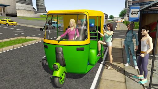 Tuk Tuk Rickshaw City Driving Simulator 2020 apklade screenshots 1
