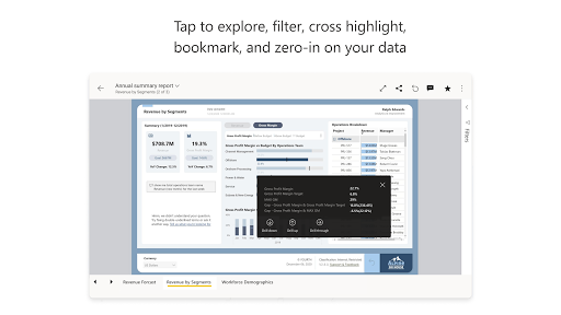 Microsoft Power BIu2013Business data analytics apktram screenshots 8