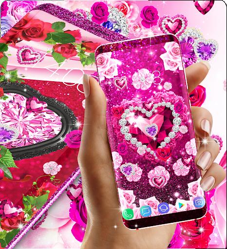 Diamond rose glitter live wallpaper apktram screenshots 6