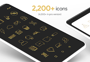 Lines Gold - Icon Pack (Free Version)