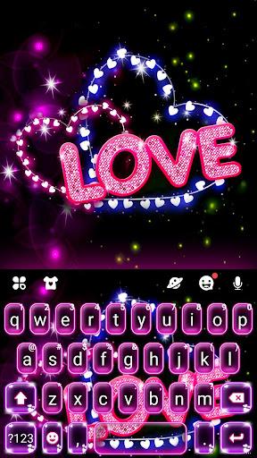 Neon Love Keyboard Theme 1.0 Screenshots 1
