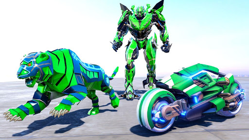 Lion Robot Transform Bike War : Moto Robot Games 1.5 screenshots 7