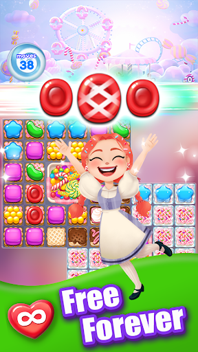 Candy Go Round - #1 Free Candy Puzzle Match 3 Game 1.4.1 screenshots 1