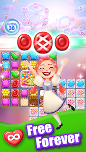 Candy Go Round – #1 Free Candy Puzzle Match 3 Game  (MOD, Unlimited Money) 1