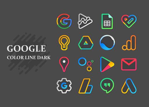 Color Line DARK Icon Pack