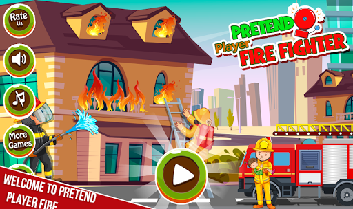 Pretend Play My Firestation Town  : Rescue Fireman  screenshots 1