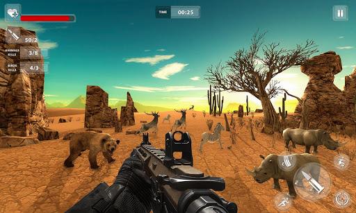 fps animal shooting - jungle wild animal simulator screenshot 2