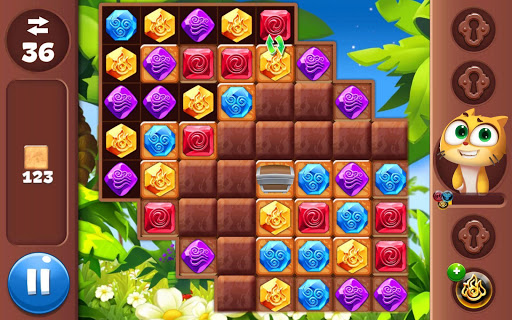 Gemmy Lands: Gems and New Match 3 Jewels Games apkslow screenshots 13