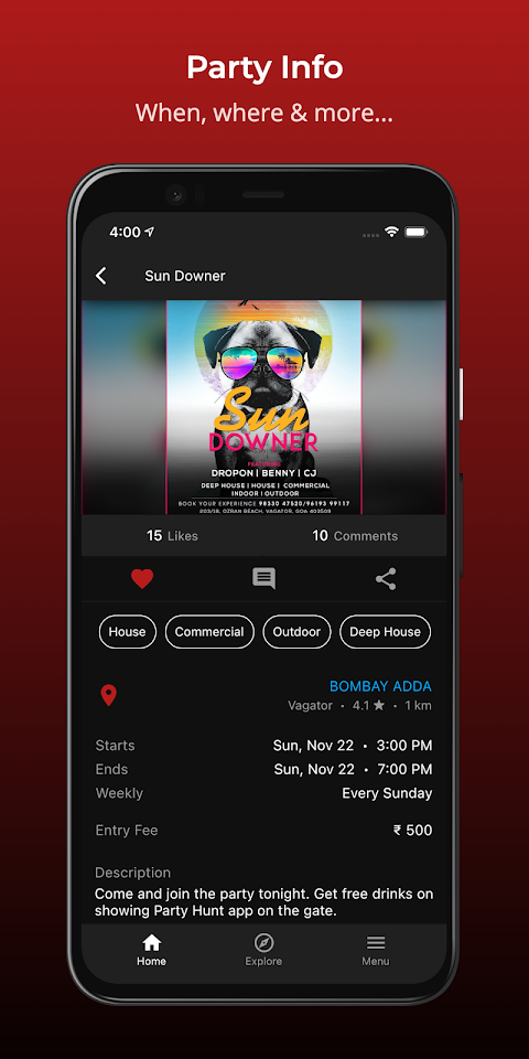 Party Hunt – Concerts, Gigs & Music Events in Goaのおすすめ画像3