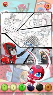 Miraculous Ladybug & Cat Noir. Color by number 7