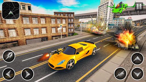 Flying Car Shooting Games - Drive Modern Cars Game 1.7 screenshots 9