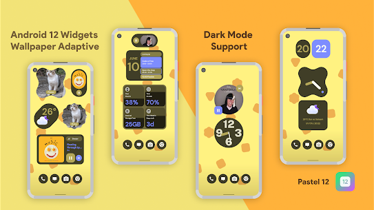 Pastel 12 – Android 12 Widgets for KWGT Pro For Android 1