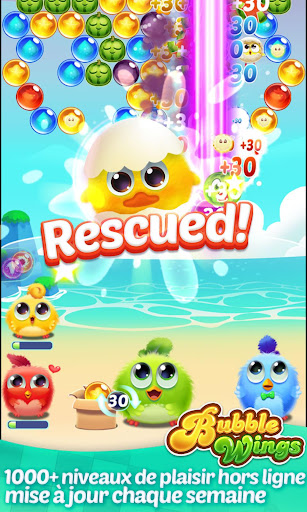 Télécharger Bubble Wings: offline bubble shooter games APK MOD (Astuce) screenshots 1