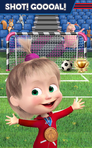 Masha and the Bear: Football Games for kids Apkfinish screenshots 19