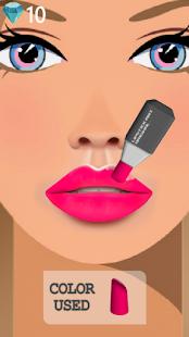 Art des lèvres: rouge à lèvres de jeu