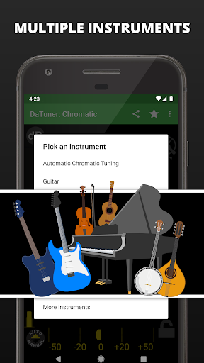 Guitar Tuner, Bass, Violin, Banjo & more | DaTuner 3.200 Screenshots 5