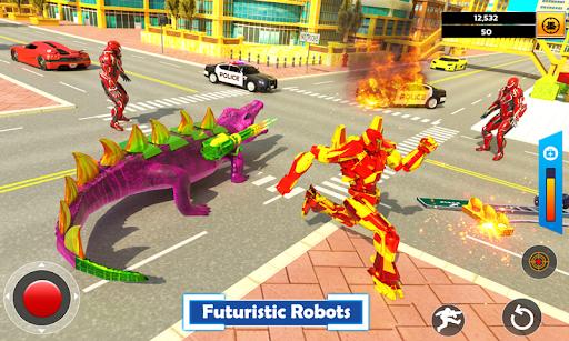 Crocodile Robot Car Transforming Mega Robot Games  screenshots 3