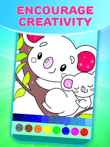 Flower Magic Color-kids coloring book with animals 3.7 screenshots 2