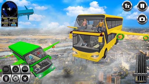 Flying Bus Driving simulator 2019: Free Bus Games 3.1 screenshots 3